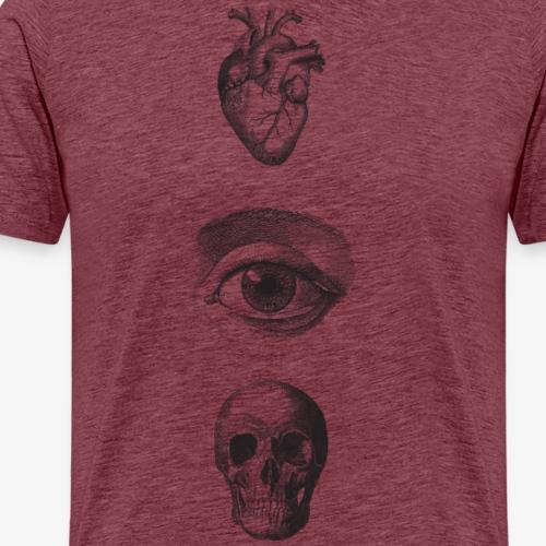 HeartEyeSkull - Männer Premium T-Shirt