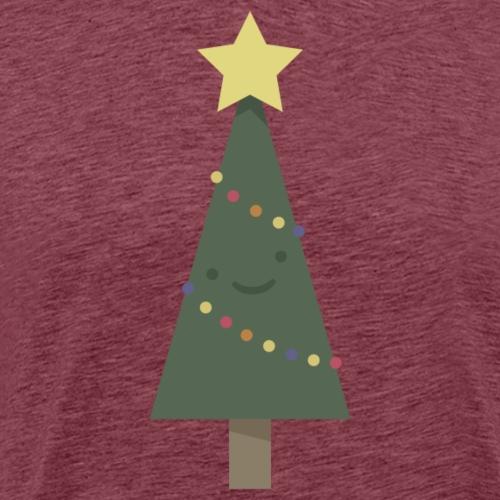 Happy Little Christmas Tree - Mannen Premium T-shirt