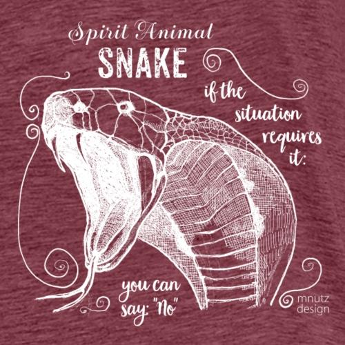 Spirit Animal Schlange weiß - Männer Premium T-Shirt
