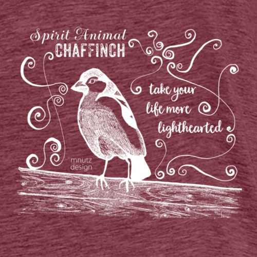 Spirit Animal Buchfink weiß - Männer Premium T-Shirt