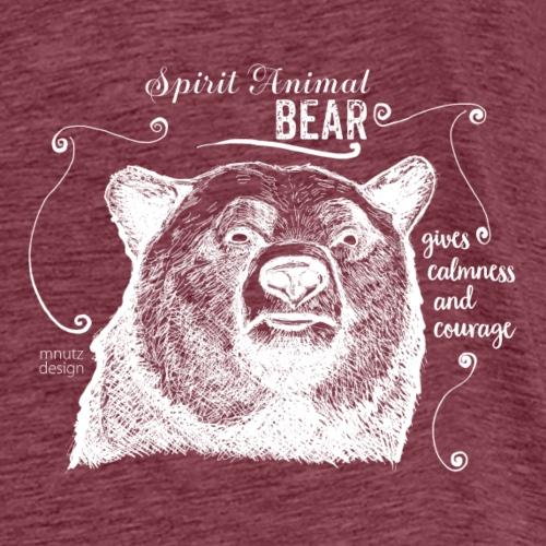 Spirit Animal Bär weiß - Männer Premium T-Shirt