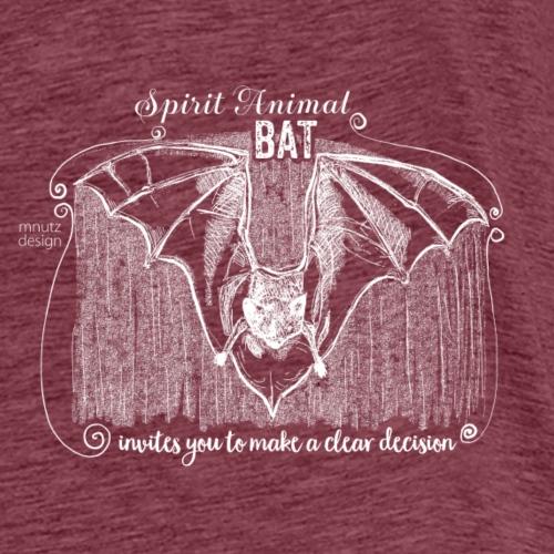 Spirit Animal Fledermaus weiß - Männer Premium T-Shirt
