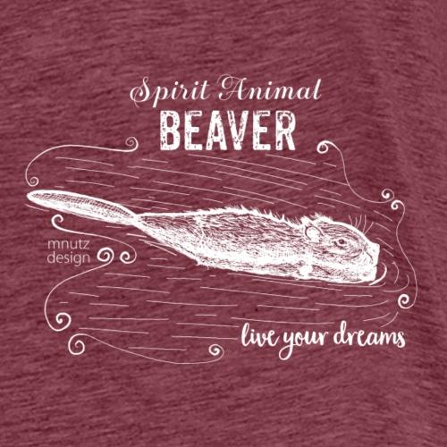 Spirit Animal Piber weiß - Männer Premium T-Shirt