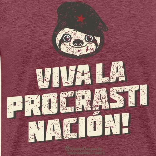Faultier und Spruch Viva la procrastinación! - Männer Premium T-Shirt