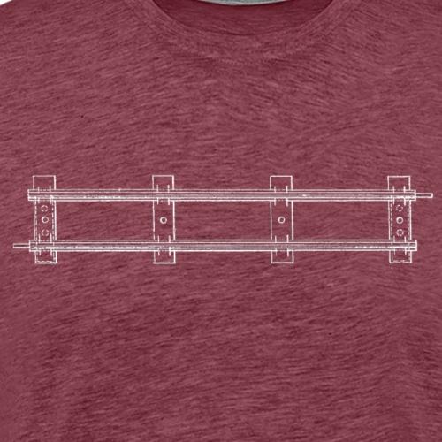 Drawing of model train track - Men's Premium T-Shirt