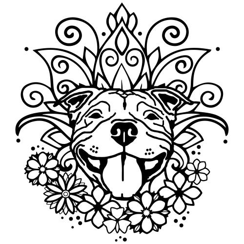 HAPPYSTAFFFLOWER - www.dog-power.nl © - Mannen Premium T-shirt