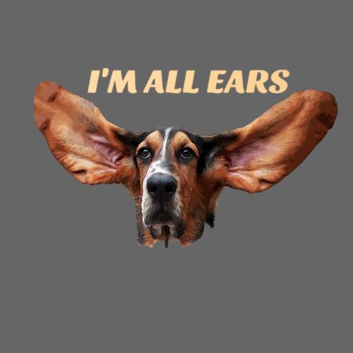 Mon basset est toutes les oreilles - T-shirt Premium Homme