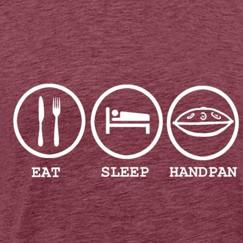 Eat Sleep Handpan Design - Men's Premium T-Shirt
