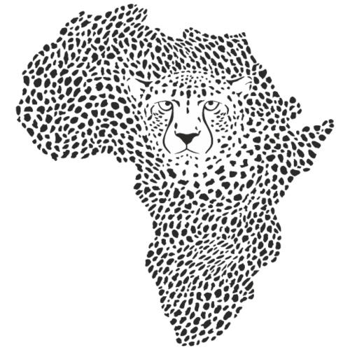 Symbol Africa in cheetah camouflage - Männer Premium T-Shirt