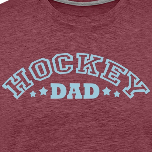 Hockey Dad (arched text) - Men's Premium T-Shirt