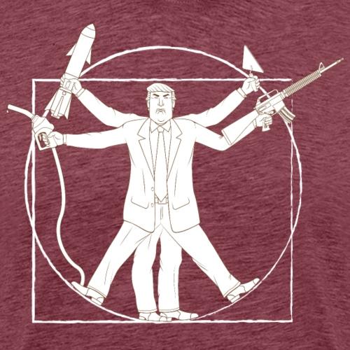 Vitruvian Trump : Anti-Trump design - T-shirt Premium Homme