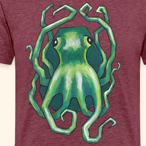 Grön bläckfisk - Premium-T-shirt herr
