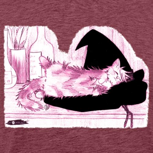 Tyrrin Hexenkater auf Hut (violett)