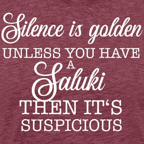 Silence is golden - Saluki - Männer Premium T-Shirt