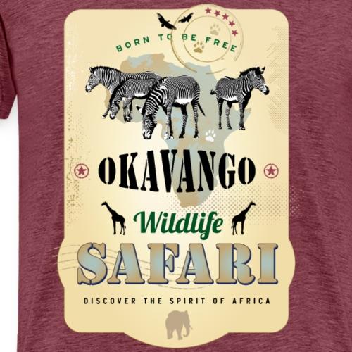 Zebras Wildlife Safari Okavango Botswana Afrika - Men's Premium T-Shirt