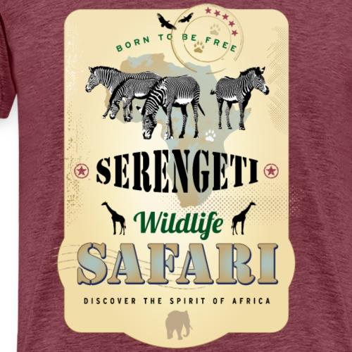 Zebras Wildlife Safari Serengeti Afrika Abenteuer - Men's Premium T-Shirt