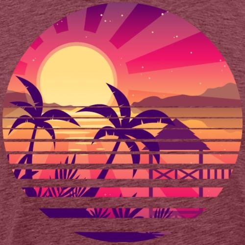 Coucher de soleil paysage asiatique - T-shirt Premium Homme