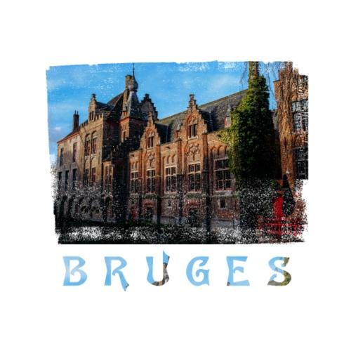 Bruges   Old houses - Mannen Premium T-shirt