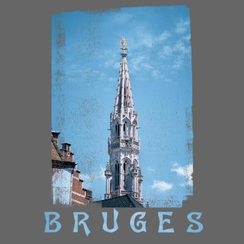 Bruges   Belfort - Mannen Premium T-shirt