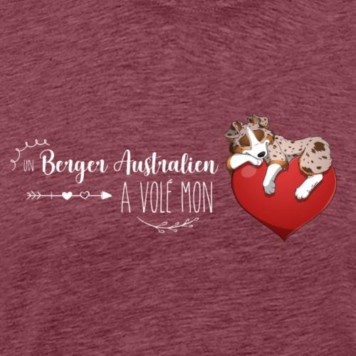 Australien Coeur - Rouge merle tricolore - T-shirt Premium Homme