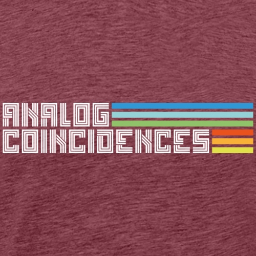 Analog Coincidences logo wit - Mannen Premium T-shirt