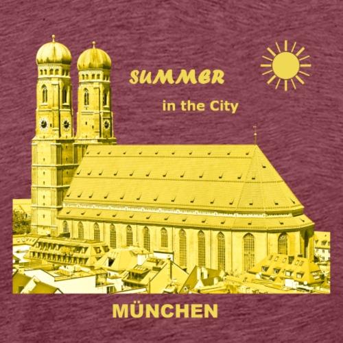 Sommer München City Frauenkirche - Männer Premium T-Shirt