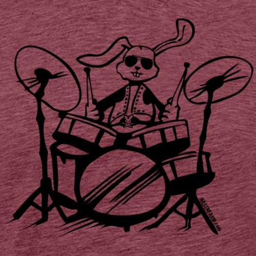schlagzeug drummer drumstick trommeln hase - Männer Premium T-Shirt