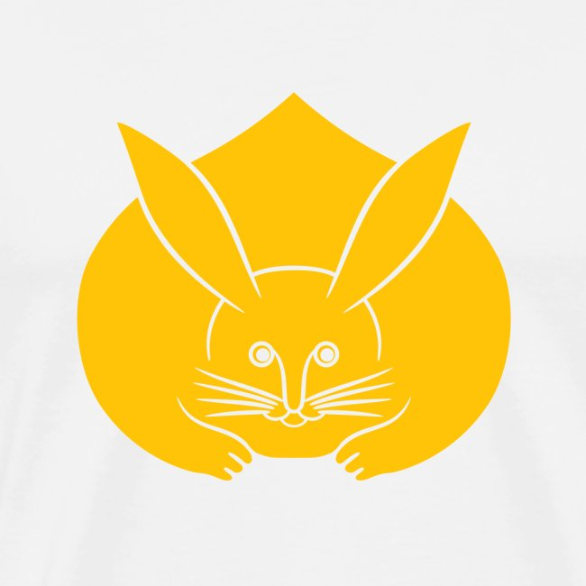 Usagi kamon japanese rabbit yellow