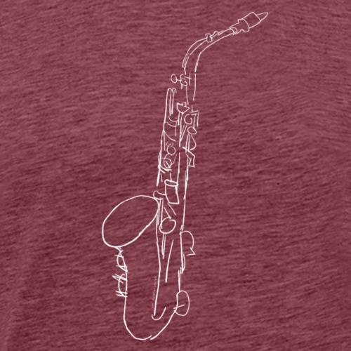 Alt Sax in weiss - Männer Premium T-Shirt