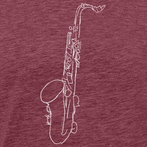 Tenor Sax in weiss - Männer Premium T-Shirt