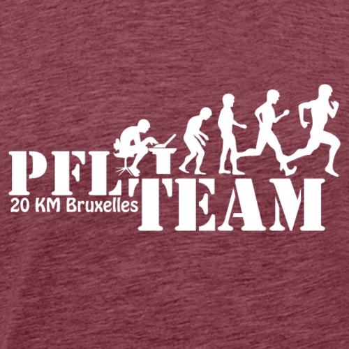 Run PFL White - T-shirt Premium Homme