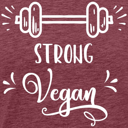 strong_vegan - Männer Premium T-Shirt