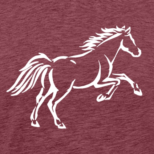 Lustiger Quarter Horse Pferd Geschenkidee Galopp - Männer Premium T-Shirt