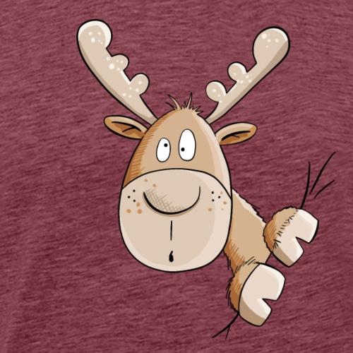 Witziger Elch I Elche I Hirsch - Männer Premium T-Shirt