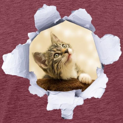 Kat Poes Kitten - Mannen Premium T-shirt