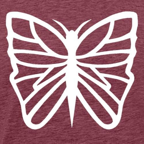 Avancerat fjärils motiv. - Premium-T-shirt herr