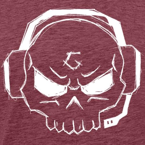 Gamer Skull Logo WHITE - Männer Premium T-Shirt