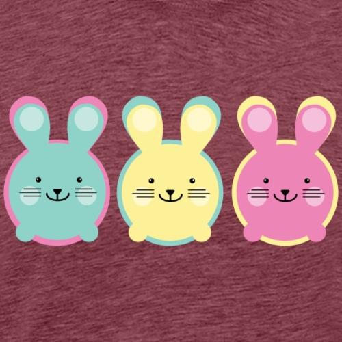 3 kleine bunte Hasen - Männer Premium T-Shirt