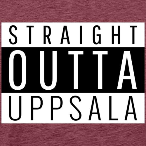 Straight outta Uppsala - Premium-T-shirt herr
