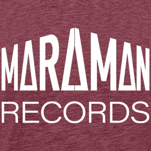 Maraman Records logo valkoinen - Miesten premium t-paita