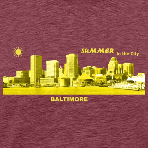 Summer Baltimore Maryland USA skyline Sommer Sonne - Männer Premium T-Shirt