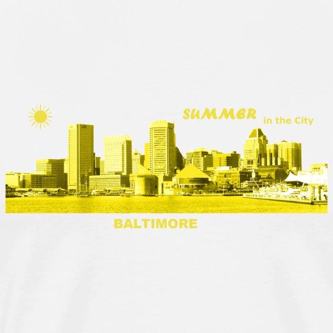 Summer Baltimore Maryland USA skyline Sommer Sonne