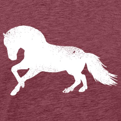 Fjordpferd Norweger Silhouette Pony Pferd Geschenk - Männer Premium T-Shirt