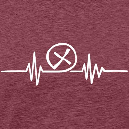 Herzschlag EKG Geocaching Shirt Geschenk - Männer Premium T-Shirt