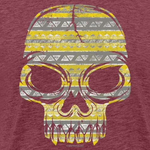 COLORFUL PATTERN SKULL textiles, gifts, products - Miesten premium t-paita
