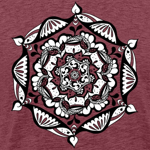 Mandala Flower - Männer Premium T-Shirt