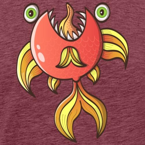Le poisson rouge zombie effrayant vous menace - Men's Premium T-Shirt