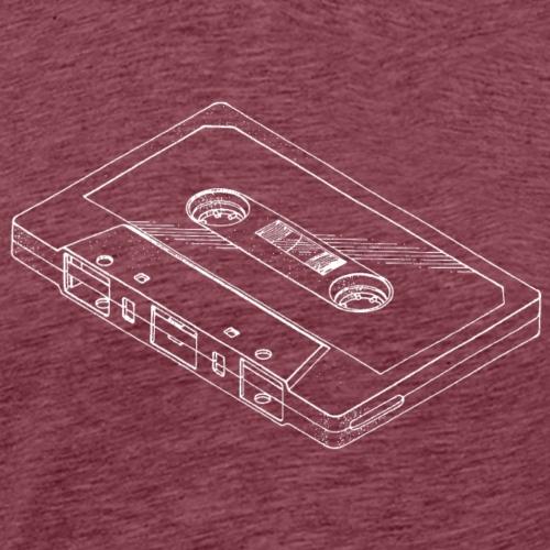 Audio cassette tape - Men's Premium T-Shirt