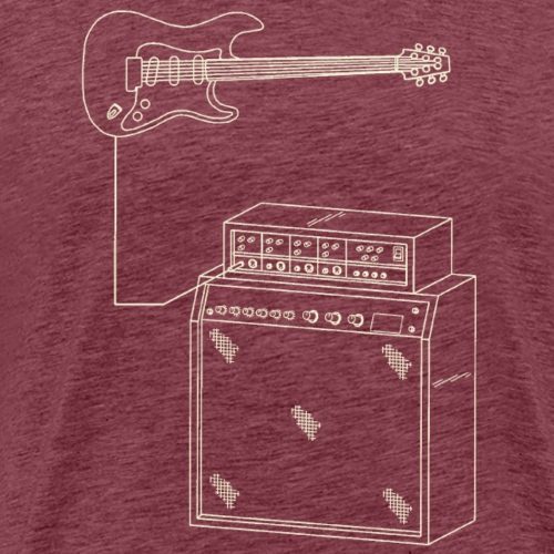 Classic amp and guitar sketch - Men's Premium T-Shirt