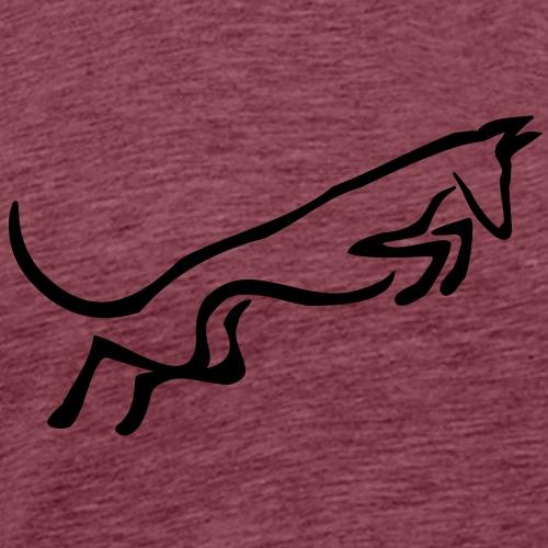 Podenco springt - Männer Premium T-Shirt